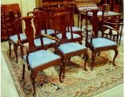 Queen Anne set of 8 Dining Chairs