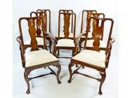 Queen Anne Dining Chairs - set of 8 - SOLD