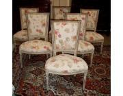 Louis XVI style set of 6 Dining Chairs