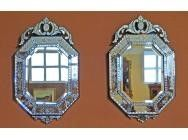 Pair of Venetian Octagonal Mirrors - SOLD