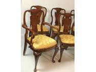 Queen Anne Mahogany Set of 8 Dining Chairs