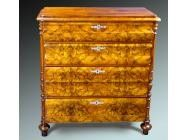 Biedermeier Burl Olivewood Commode
