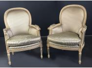 French Pair of Armchairs - Louis XVI style - ON HOLD