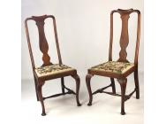 Queen Anne Chairs with Petit Point - ON HOLD