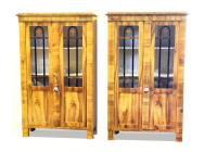 Pair of Biedermeier Bookcases / Display Cabinets - 1830