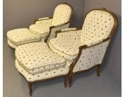 Pair of Armchairs -Footstools - SOLD