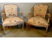 Antique Small Armchairs Louis XV style Decapé