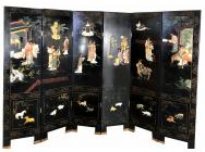 Antique Chinese Screen with 6 Panels - SOLD