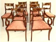 Regency Dining Chairs - Set of 8 - SOLD