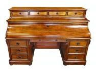 Large French Bureau with Double Action Piano Top - 19th Century