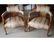 Pair of Antique Low Armchairs