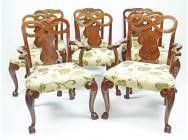 Set of 8 Large Dining Chairs in the George II style - ON HOLD