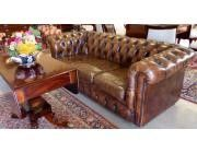 Chesterfield Sofa Cognac Color - 3 seater