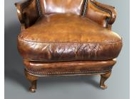 English Leather Small Armchairs