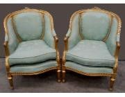 Pair of French armchairs in the Louis XVI style - Gilt -SOLD