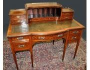 Antique Desk Rosewood with Marquetry - Maple & Co