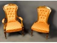 Antique Victorian Chair and Armchair Set - SOLD