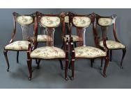 Art Nouveau 6 Dining Chair set