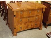 Biedermeier Chest of Drawers Concave Pediment