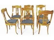 Biedermeier Dining Chairs - Northern Italy -6