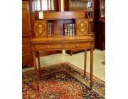 Antique Small Satinwood Desk - Marquetry and Gilding