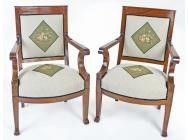 Antique Fauteuils Directoire Swiss a Pair - Early 19th century - ON HOLD