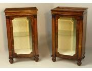 Antique pair of Display Cabinets - Regency period