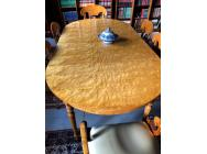 Biedermeier Round Dining Table Extendable