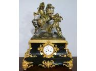 Antique Clock with Sculpture of Battle - Louis Philippe period
