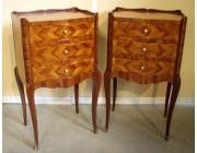 Pair of Bedside cabinets in the Louis XV manner