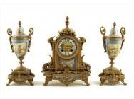 Antique French Mantel clock with Garniture - ON HOLD