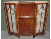 Bureau Art Deco with Twin Displays and Drawers
