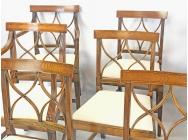 Regency set of 8 Dining Chairs - 4 Chairs & 4 Armchairs