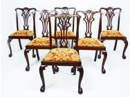 Antique Chippendale Dining Chairs - Set of 6 - SOLD